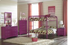 Raspberry Full/Full Bunkbed