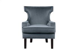 Accent Chair, Gray Velvet
