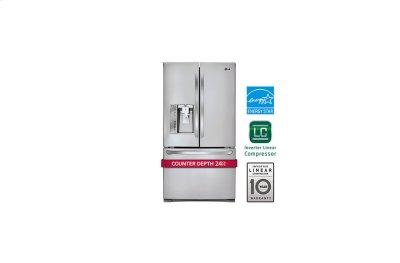 24 cu. ft. Counter-Depth 3-Door French Door Refrigerator Product Image