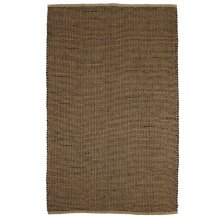 Natural & Black Woven Basketweave Jute 5'x8' Rug.