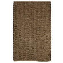 Natural & Black Woven Basketweave Jute 5'x8' Rug