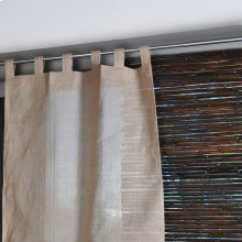 Jute Tabtop Curtain Panel 38x108 100% Jute Curtains