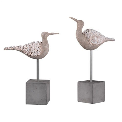 Shore Birds Figurine, S/2