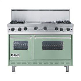 """Sage 48"""" Open Burner Commercial Depth Range - VGRC (48"""" wide, four burners 12"""" wide griddle/simmer plate 12"""" wide char-grill)"""