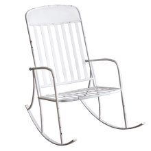 Distressed White Rocking Chair
