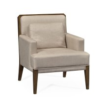 Light Brown Oak Occasional Chair, Upholstered in MAZO