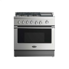 """36"""" Gas Range: 4 Burners With Griddle"""