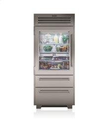 """36"""" PRO Refrigerator/Freezer with Glass Door"""