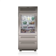 "36"" PRO Refrigerator/Freezer with Glass Door"