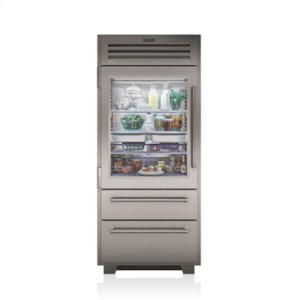 "Subzero36"" PRO Refrigerator/Freezer with Glass Door"