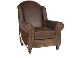 Gunnison Leather Chair, Gunnison Ottoman