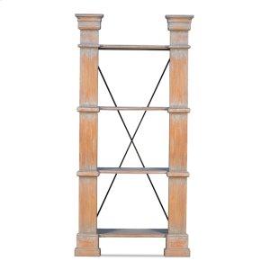 Sarreid Ltd Modular Bookshelf, Left & Right Set,blue