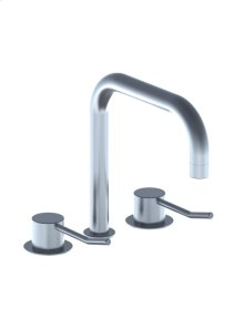 Three-hole mixer with long lever, combination consisting of 2 pcs - Grey