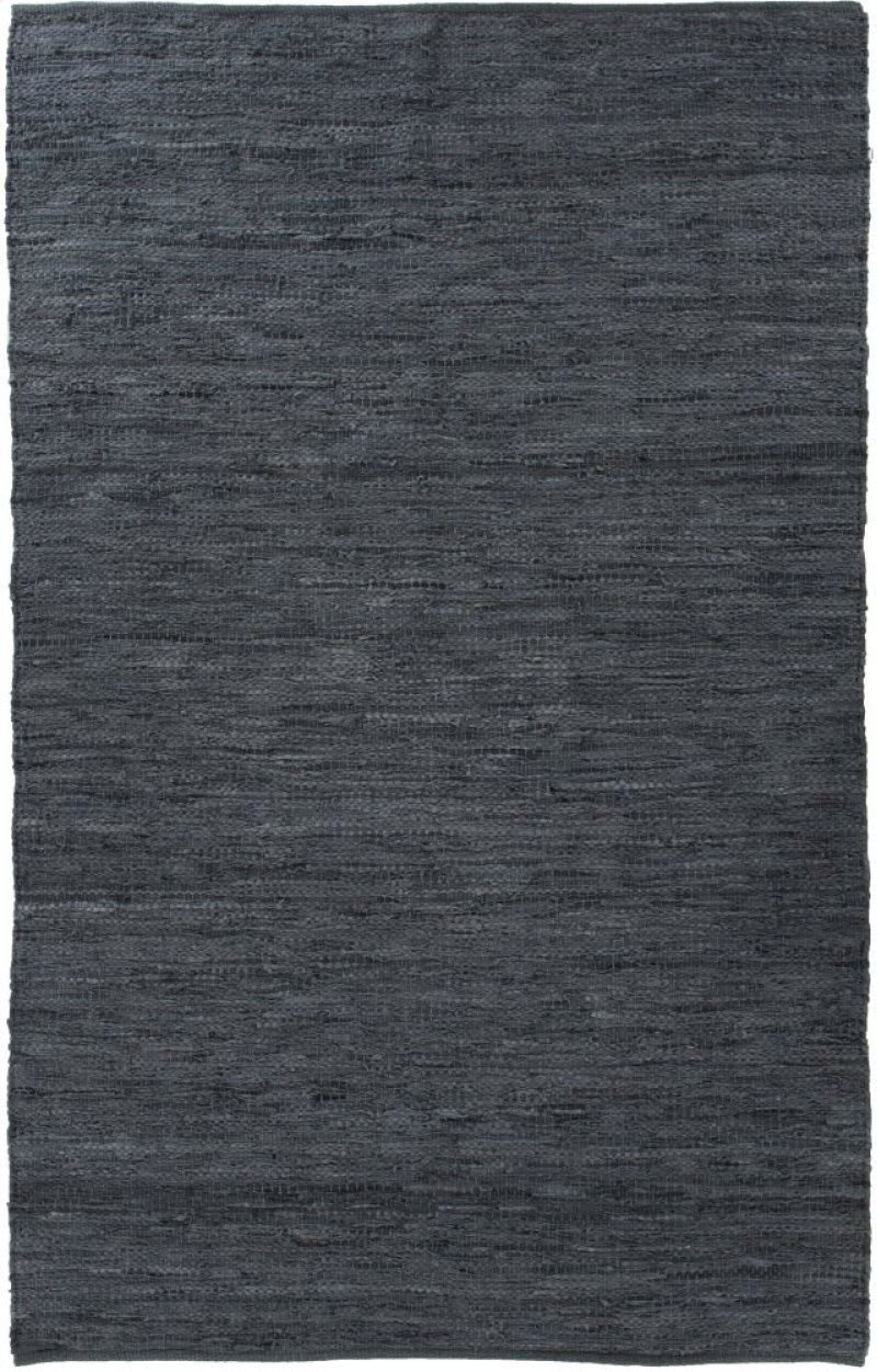 8 X10 Size Woven Leather Slate Blue Rug