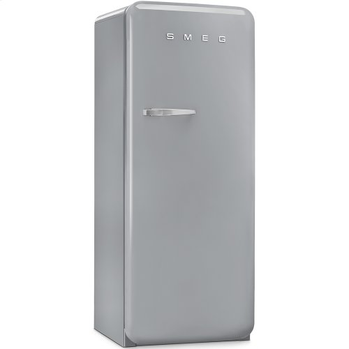 50'S Style Refrigerator with ice compartment, Silver, Right hand hinge