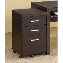Skylar Contemporary Cappuccino Three-drawer Mobile File Cabinet