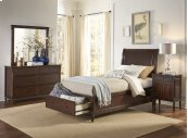 Avignon Birch Cherry Twin Storage Bed