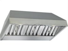"34-3/8"" x 22-1/2"" Stainless Steel Built-In Range Hood with Internal Pro 600 CFM Blower"