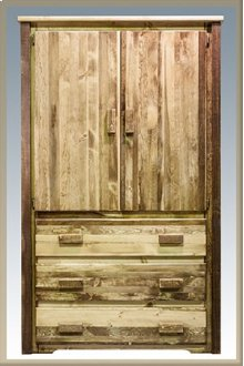 Homestead Armoire - Stained and Lacquered