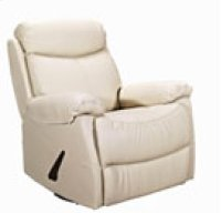 REC-220 Brazil Beige Leather Recliner Product Image