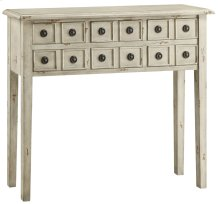 Newcastle 6 Drawer Antique White Console