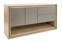"Birch Veneer Buffet / 2 Doors With 1 Adjustable Wood Shelf Inside / 2 Drawers ""quadro"" Slides."