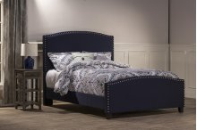 Kerstein Bed Set - King - Rails Included - Navy Linen