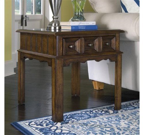 Two Delcastle Side Tables and cocktail table Irish Antique Pine finish