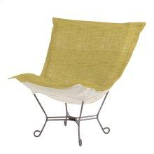 Scroll Puff Chair Coco Peridot Titanium Frame