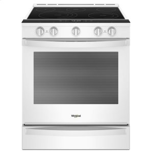 6.4 cu. ft. Smart Slide-in Electric Range with Scan-to-Cook Technology - WHITE