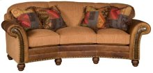 Katherine Leather/Fabric Conversation Sofa, Katherine Leather/Fabric Conversation Sofa