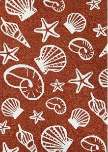 7334/0111 Cardita Shells / Terra-Cotta-Ivory Area Rugs