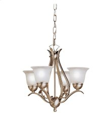 Dover 4 Light Mini Chandelier Brushed Nickel