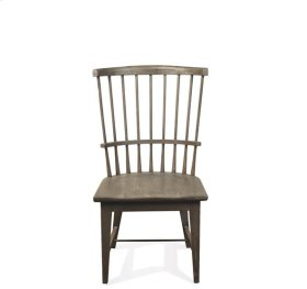 Juniper Windsor Side Chair Charcoal finish