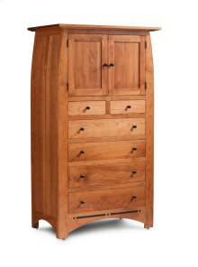 Aspen Chest Armoire with Inlay