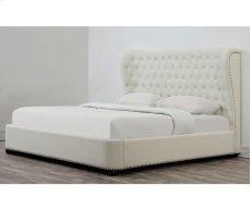 Finley Beige Linen Upholstered Queen Bed Product Image