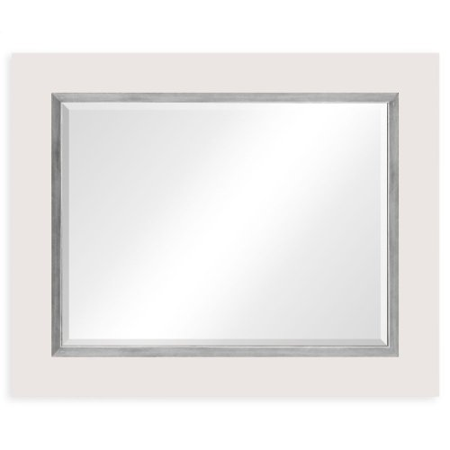 "Blanc & Silver ""Homespun"" Mirror"