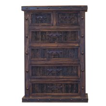 Finca Six Drawer Chest with Reclaimed Wood Panels