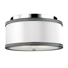 2 - Light Crystal Inlay Flush Polished Nickel