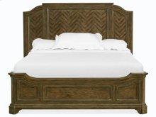 Complete King Panel Bed w/Shaped Rails
