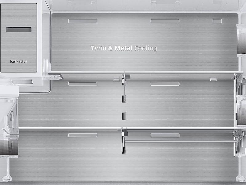 Samsung Appliances 23 Cu. Ft. Capacity Counter Depth 4 Door French Door  Refrigerator With Polygon Handles