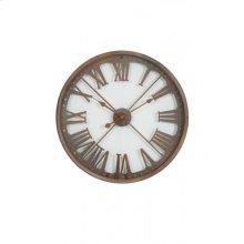 Clock 67x6,5 cm AKRON brown