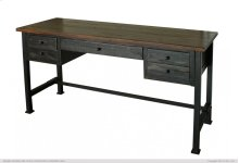 Writing Desk, Reclaimed black finish
