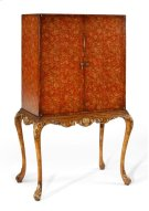 Red Chinoiserie Drinks Cabinet Product Image