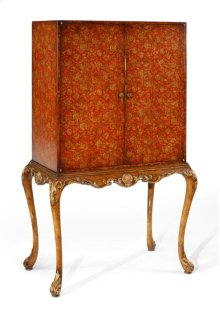 Red Chinoiserie Drinks Cabinet