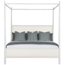King-Sized Arbor Canopy Bed in Chalky White