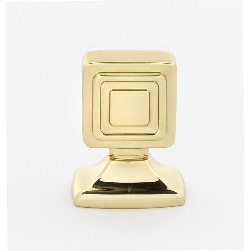 Cube Knob A986-78 - Polished Brass