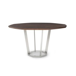Paragon Club Sunburst Dining Table With Metal Base