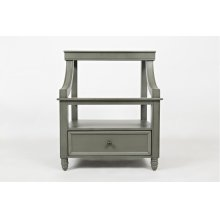 Avignon Grey Tri-level Nighstand