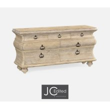 Large Rectangular Limed Acacia Chest of Drawers